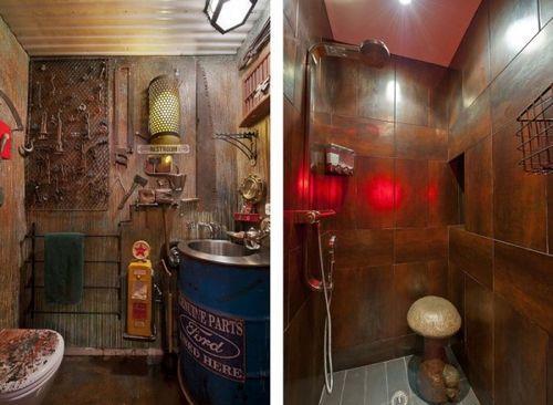 Креативная идея дизайна интерьера ванной