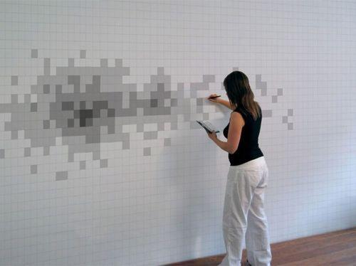 Пиксельная стена