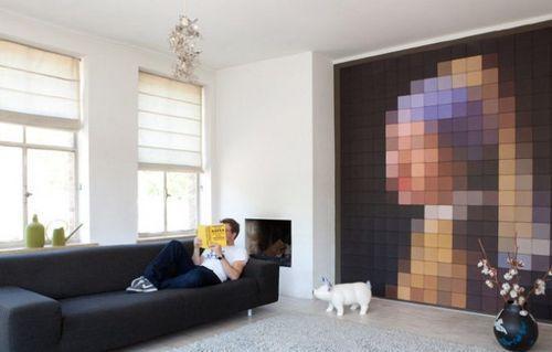 Пиксельный интерьер