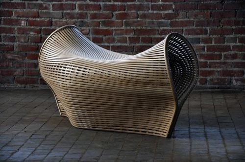 кресло из согнутой древесины