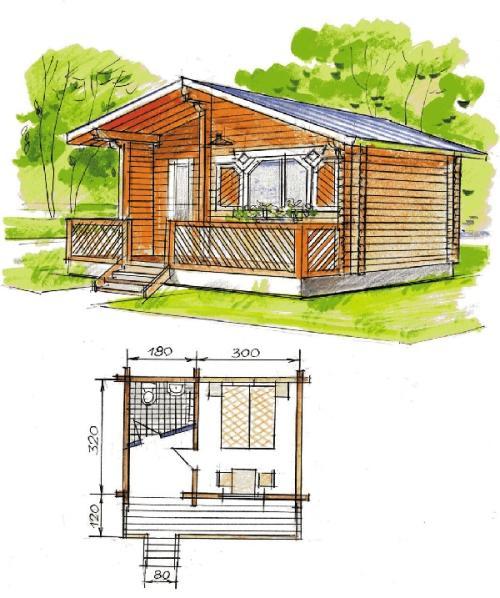Одноэтажный маленький домик
