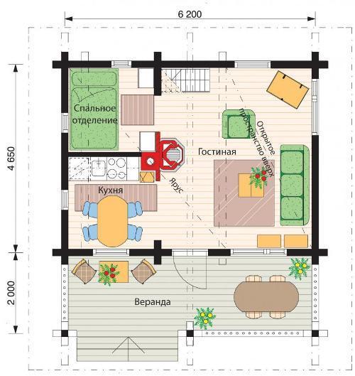 Планировка гостевого дома