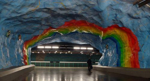 Скальный потолок в метро