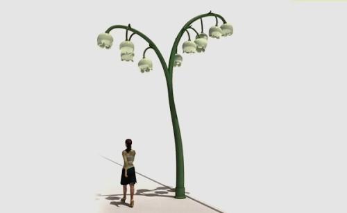 Уличный фонарь Lily street light