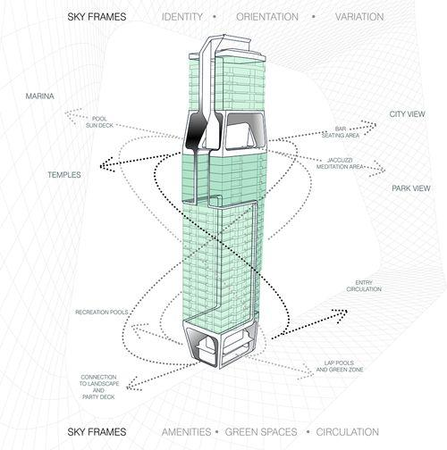 Проект жилого небоскреба