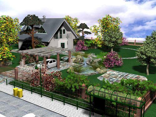 Дизайн загородного участка