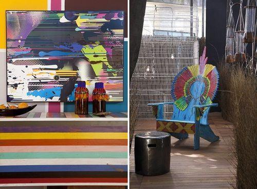 Цветные элементы интерьера