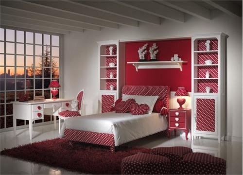 Интерьер романтической спальни