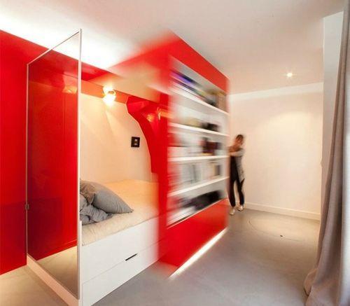 Красная телескопическая спальня