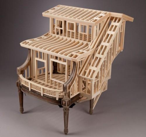 Деревянный стул Sit Stay
