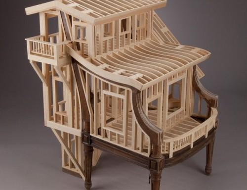 Креатвный деревянный стул Sit Stay