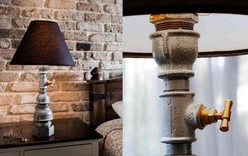 Fat Mona и Little Mona: лампы из водопроводных труб от Kozo