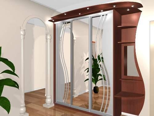 Мебель для прихожей с зеркалами