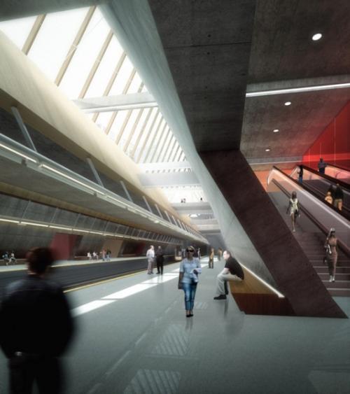 Проект станции метро
