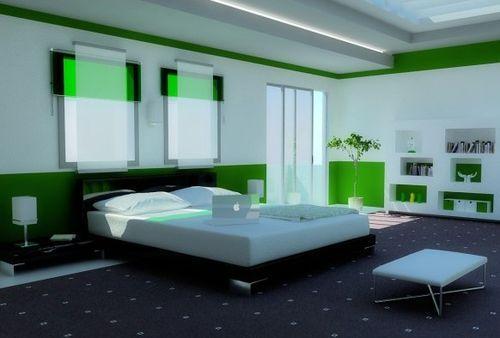 спальни в зеленом цвете фото