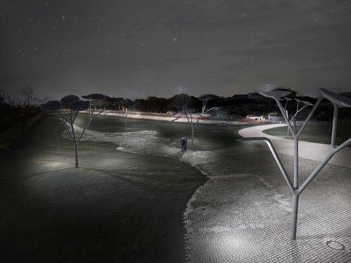 Светодиодные уличные деревья-светильники