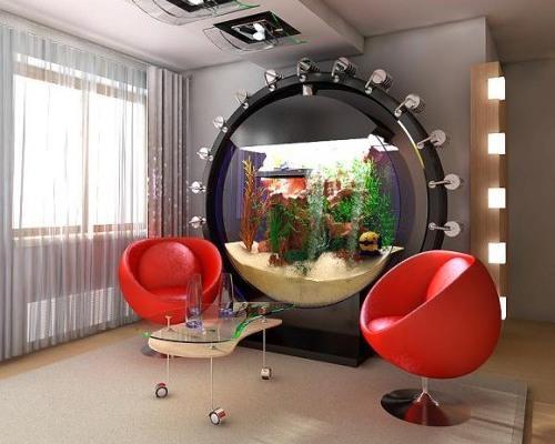 Что мешает организовать оригинальные идеи размещения аквариума?
