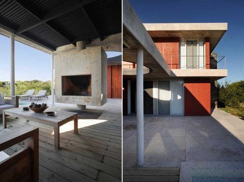 Black And Red Residence - дом с двумя каминами