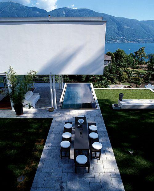 Дом с видом на Швейцарские Альпы