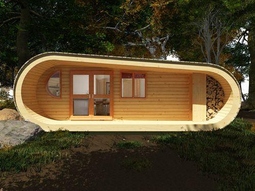 Инновационный деревянный дом Eco-Perch