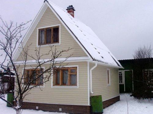 Дом отделанный сайдингом