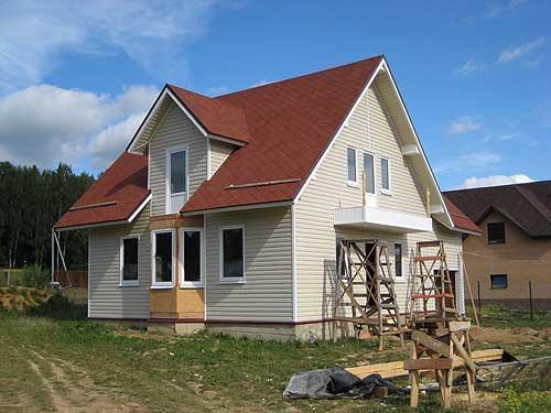 Дом отделанный сайдингом фото