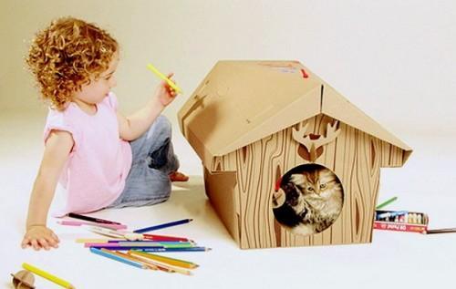 Canadian Cabin - картонный домик для котят