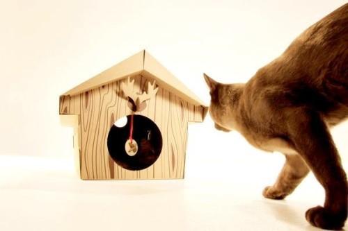 Картонный домик для котят Canadian Cabin
