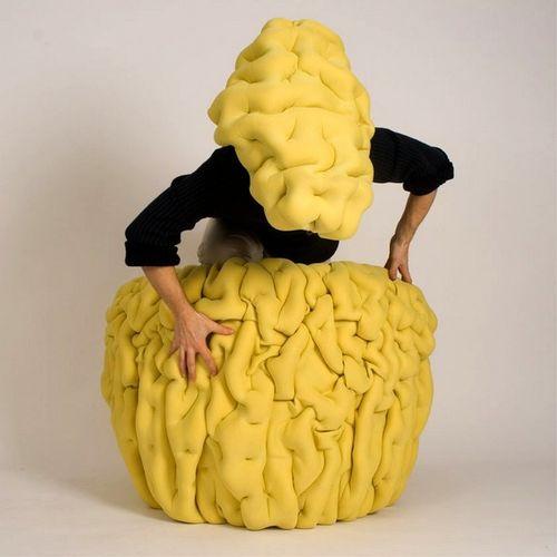 Желтое кресло Ondule lounge chair