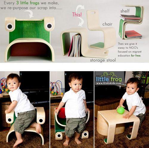 Little Frog – деревянный стульчик