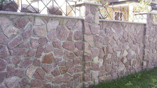 Фото каменного забора