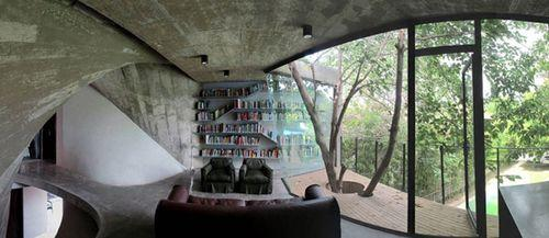 Дом с библиотекой