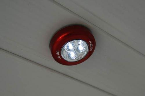 Светодиодная лампа в туалете