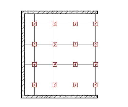 Схема квадратного расположения датчиков