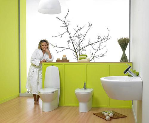 Весенний дизайн интерьера ванной