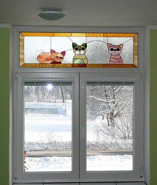 Витражи в интерьере на окнах