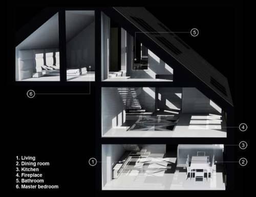 Cetatuia Loft - прозрачные интерьеры лофт-комплекса «на пригорке»