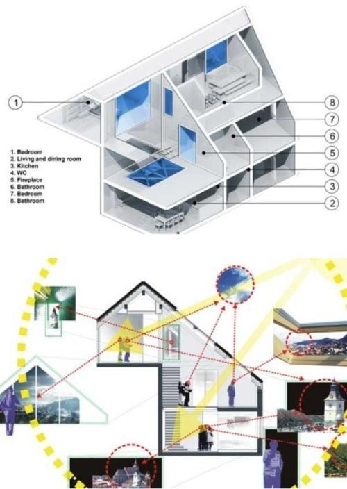Cetatuia Loft - прозрачные интерьеры лофт-комплекса
