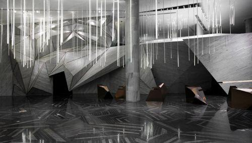 «Горные рельефы» офисного пространства