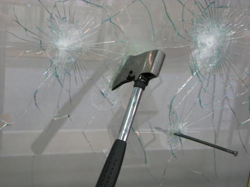 Укрепление стекла пленкой