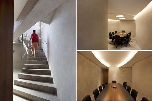 Офис с монолитного бетона
