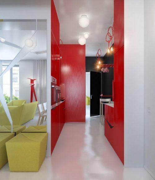 Интерьер квартиры в ярких цветах