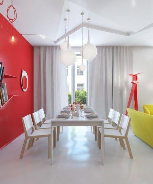 Интерьер квартиры в ярких красках