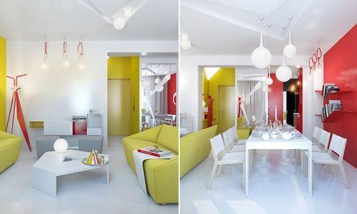 Яркие цвета в интерьере квартиры