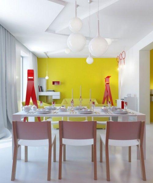Желтая стена в квартире