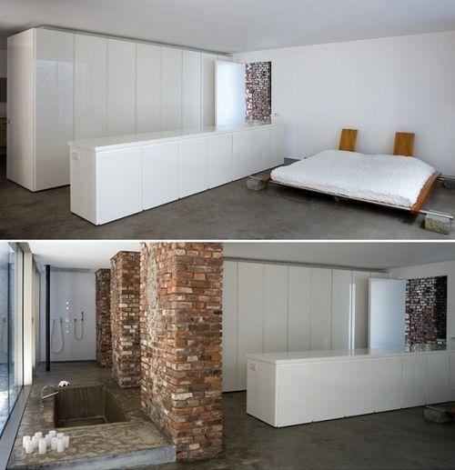 Спальня в бывшем складе