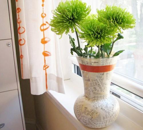 Декор вазы своими руками, который сделать просто и быстро