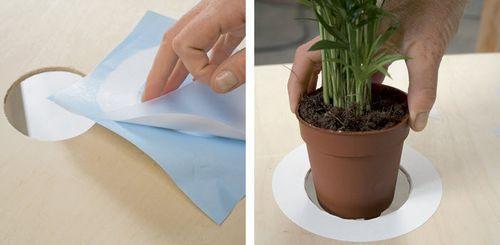 Как сделать журнальный столик с цветочным вазоном