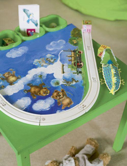 Декорируем столик для детской комнаты
