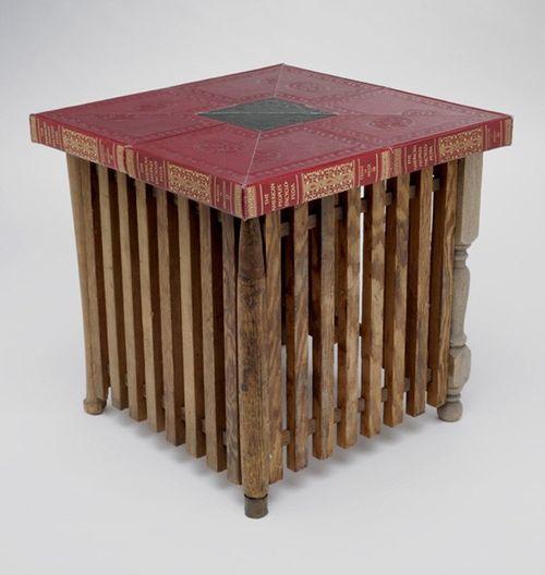 Мебель из книг Second Editions от Jim Rosenau